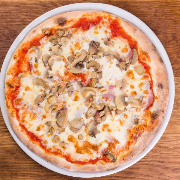 Пицца Прошутто с грибами